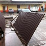Ворота из профлиста откатные распашные в дом на коттедж участок, Екатеринбург