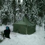 Шатер палатка зима+ Буржуйка походная печка туриста, Екатеринбург