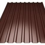 Профнастил С-8 (RAL 8017) коричневый шоколад 1200х, Екатеринбург