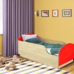 Детская кровать Малыш,  Клен / Красный (Миди), Екатеринбург