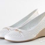 Туфли новые летние белые 41 размер, Екатеринбург