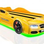Кровать-машина Real AMG желтая, Екатеринбург