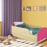 Детская кровать Малыш,  Клен / Розовый (Миди), Екатеринбург