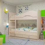 Двухъярусная кровать Мая с ящиками, Дуб млечный (Тмк), Екатеринбург