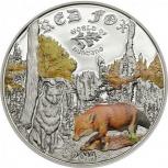 Куплю монеты острова Кука 2014г мир охоты, Екатеринбург