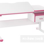 Парта-трансформер для школьника FunDesk Creare Pink с выдвижным ящиком, Екатеринбург