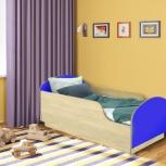 Детская кровать Малыш,  Клен / Синий (Миди), Екатеринбург