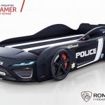 Кровать-машина Dreamer Полиция черная, Екатеринбург