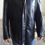 Куртка кожаная новая 56 (xxxl) черная, Екатеринбург