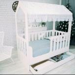 Детская кровать-домик с ящиком белый (Мир мебели), Екатеринбург