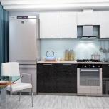 Кухонный гарнитур Олива 2,1м (Белый + Черный), Екатеринбург