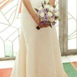 Продам отличное почти новое свадебное платье размер 42-44, цвет Айвори, Екатеринбург