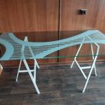 Стеклянный стол икеа. Как Новый, Екатеринбург