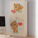 Шкаф 2-х створчатый Мишки (Вм), Екатеринбург