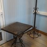 Кованный столик с гранитной столешницей, Екатеринбург