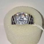 Перстень печатка кольцо серебряное 925пр. с яркими фианитами, новое, Екатеринбург
