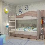 Двухъярусная кровать Мая с ящиками, Ясень шимо (Тмк), Екатеринбург