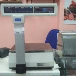 Весы CAS-5000 с печатью этикеток, Екатеринбург