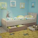 Кровать Антошка, 80*190 см, ясень шимо (ТМК), Екатеринбург