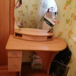 Стол туалетный с зеркалом. 2 тумбочки прикроватные., Екатеринбург
