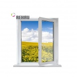 Окно ПВХ Rehau Blitz 600х600 (1С/3К) Поворотное, Екатеринбург