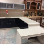 Кухня на заказ Модерн со слитым столом (Финист), Екатеринбург