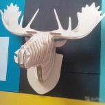 Декоративная голова оленя из дерева, Екатеринбург