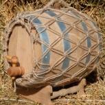 Бочка дубовая с плетением на подставке с краном (10 Л), Екатеринбург