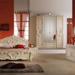 Модульная спальня Роза беж Комплект с 4-х дверным шкафом (Авт), Екатеринбург