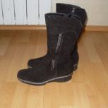 Продам новые зимние замшевые сапоги, размер 37, Екатеринбург