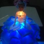 Настольная Роза-светильник: Подарок -кукла для девочки в Екатеринбурге, Екатеринбург