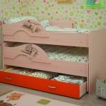 Кровать двухъярусная выкатная Матрешка Сафари Оранж (ТМК), Екатеринбург