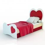 Детская кровать с ящиками Сердце (Миди), Екатеринбург