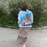 Джинсовая куртка с рисунком, Екатеринбург