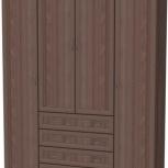 Шкаф для белья со штангой, полками и ящиками  Арт. 110 (Гарун), Екатеринбург