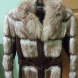 Кожаная куртка с меховыми вставками из бобра размер 46-48, Екатеринбург