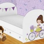 Детская кровать Велосипедистка (Гт), Екатеринбург