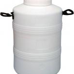 Бидон тара пластиковый с резьбовой крышкой 50 литров, Екатеринбург