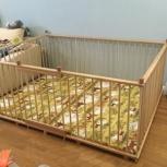 Большой детский деревянный манеж 1,5х2,0м с калиткой, Екатеринбург