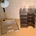 Лотки для бумаги горизонтальные тонированные матовые коричневые новые., Екатеринбург