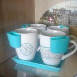 Набор: 4 кружки + подставка + чайницы, Екатеринбург