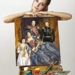 Семейный портрет на века! Идеальная схожесть с лицами на фотографии!, Екатеринбург