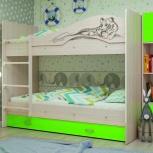 Двухъярусная кровать Мая Сафари Лайм, Екатеринбург
