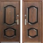 Металлическая дверь 550, Китай, 860*2050, орех, Екатеринбург