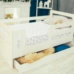 Кроватка-манеж Горизонтали с ящиком (Мир мебели), Екатеринбург
