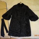 Каракулевая шубка с черной норкой 46-50 размера, Екатеринбург