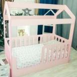 Детская кровать-домик розовый (Мир мебели), Екатеринбург
