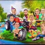 Забавные шаржи в подарок на любой праздник!, Екатеринбург