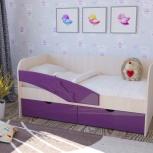Детская кровать Дельфин фиолетовый (Миф), Екатеринбург