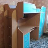 Продам детскую двухярусную кровать.с рабочим столом под компьютер, Екатеринбург